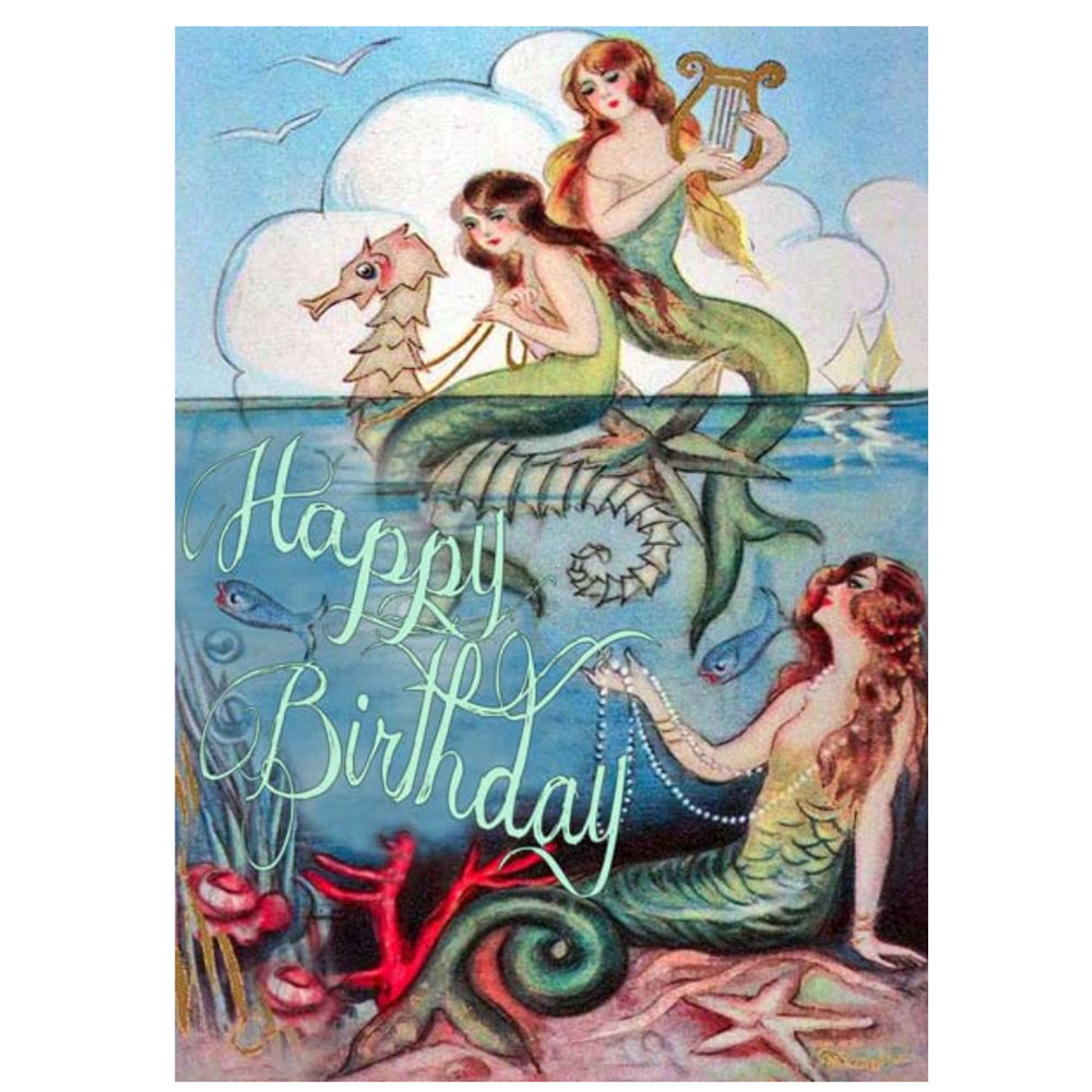 Mermaid Happy Birthday Card