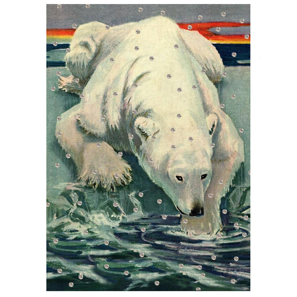 Christmas Blank Polar Bear Card