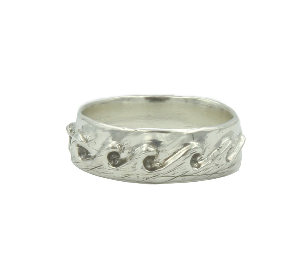 Rising Tide Band in Silver