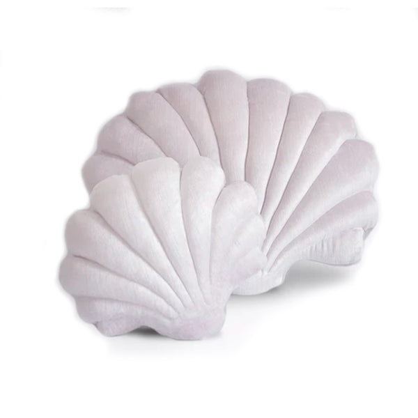 Clam Shell Pillow Pearl