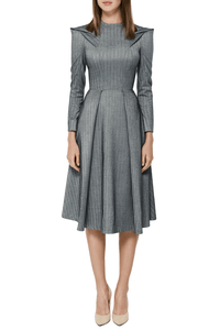 Epaulette Sleeve Dress