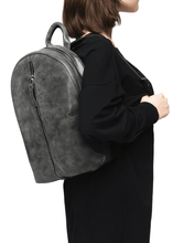 Load image into Gallery viewer, Mitte Front Zip Eco Suede Backpack