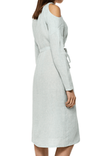 Load image into Gallery viewer, Open Shoulder Linen Dress