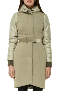 Vera Tailored Coat — Light Olive