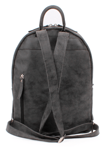 Mitte Front Zip Eco Suede Backpack