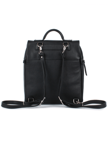 Levin S Eco Leather Zip Front Backpack