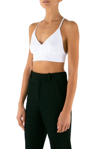 Cropped Cami - White