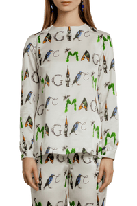 MAGIC Print Bow Cuff Blouse