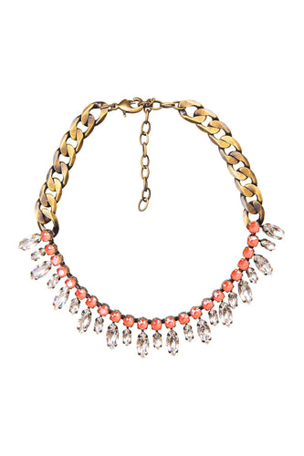 Crystal Bead Chain Necklace