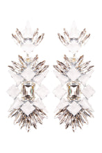 Load image into Gallery viewer, White Crystal Chandelier Clip-on Earrings