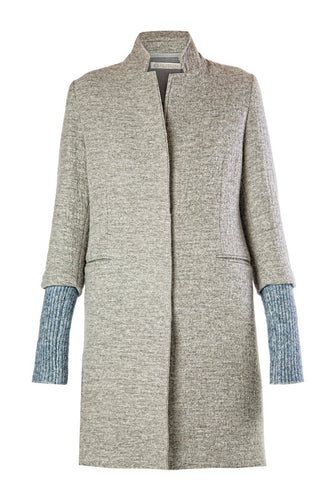 Knit Back Coat