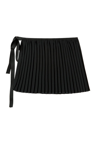 Short Pleated Tie Skirt