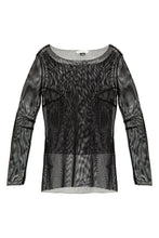 Load image into Gallery viewer, Sheer Mesh Blouse - Black