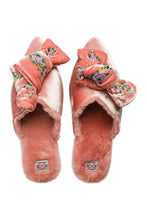 Load image into Gallery viewer, Pink Velvet Bow Mules