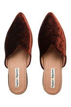 Load image into Gallery viewer, Velvet Mules - Brown