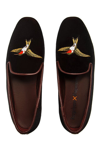 Velvet Hummingbird Loafers