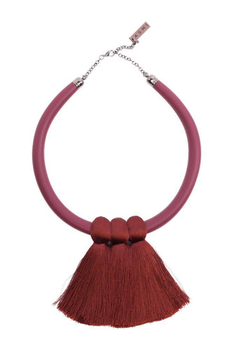 Short Triple Tassel Necklace