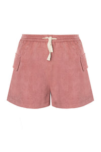 Faux Suede Drawstring Shorts