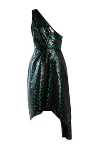 Asymmetric Brocade Dress