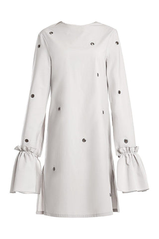 Cape Sleeve Grommet Sheath Dress