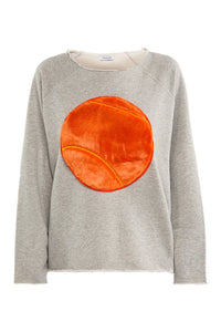 Maxine Tennis Ball Sweatshirt - Orange