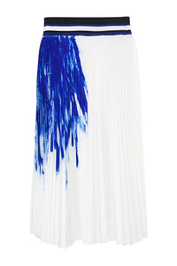 Hand Painted Pleated Galaxy Skirt