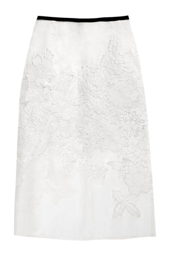 Silk Organza Applique Skirt