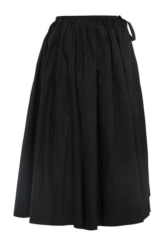 Tie Waist Cotton Skirt