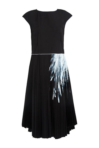 Hand Painted Pleated Galaxy Dress