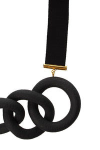 Ring Necklace - Black