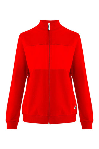 red sport jacket