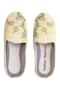 Ivory Flower Slippers