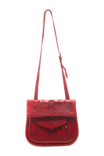 Berber Shoulder Bag - Red