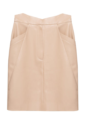 Eco Leather Slim Skirt