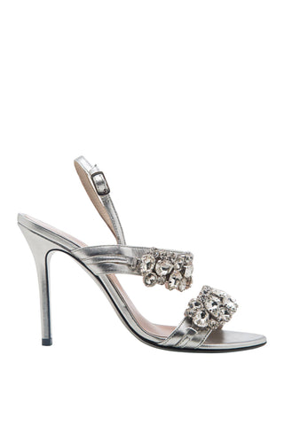 Crystal Bling Metallic Sandals