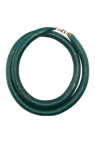 Double Tube Necklace - Teal