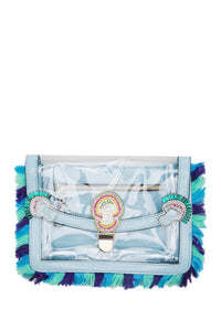 Magic Mushroom Crystal Fringe Clutch