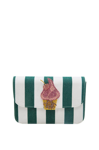 Ice Cream Canopy Stripe Clutch