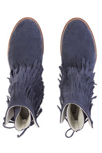 Load image into Gallery viewer, Fringe Ankle Boots - Navy