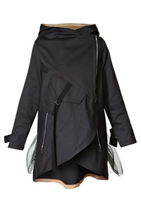 Raincoat with Tulle Tail - Black