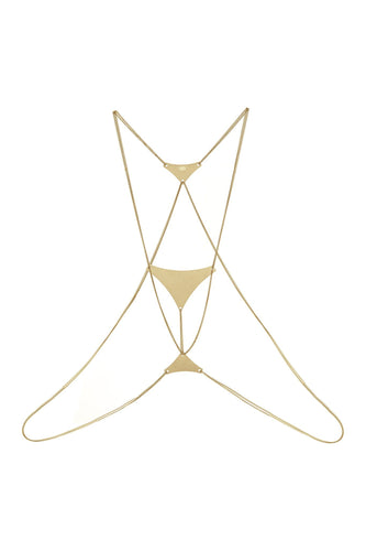 Triangle Body Chain - Gold