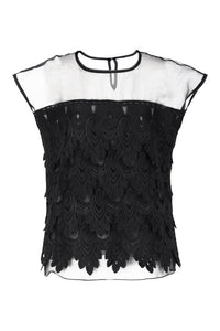 Lace and Organza Blouse
