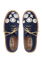 Load image into Gallery viewer, Denim Tie Espadrille Flats