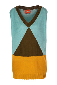 Triangle Sweater Vest
