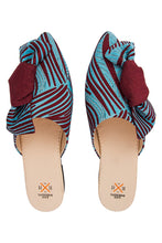 Load image into Gallery viewer, Bow Mules - Blue