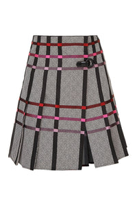 Pleated Kilt Skirt - Plaid