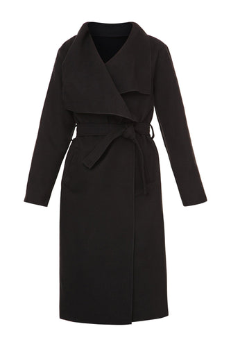 Draped Wrap Coat