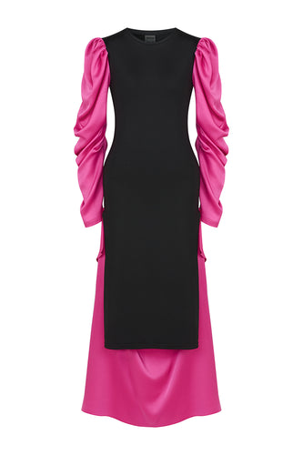 Silk Sleeve Maxi Dress