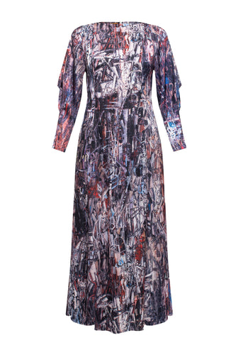 Abstract Maxi Dress