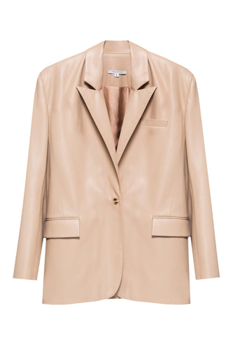 Eco Leather Blazer - Ivory
